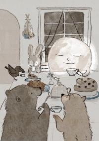 お月様とお茶