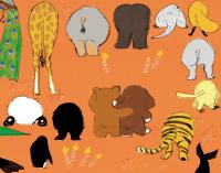 momoro illustration ハッピーとラッキーの動物園裏表紙