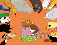 momoro illustration ハッピーとラッキーの動物園表紙