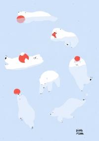 白熊とボール