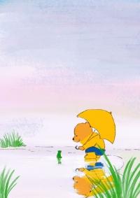 雨のなか-(1)